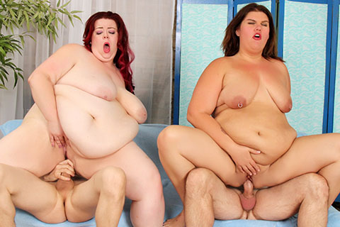 Danni Dawson a Miss Ladycakes enjoys foursome sex